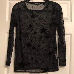 Sheer Star Patterned Top